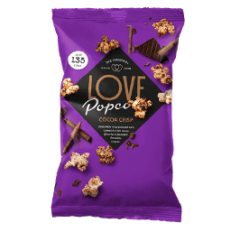 Cocoa crisp popcorn