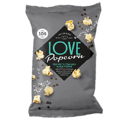 Sea Salt and Cracked Black Pepper Popcorn
